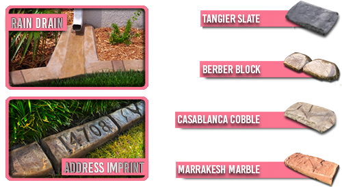 Moroccan Natural Stone - Rain Drain - Address Imprint - Tangier Slate - Berber Block - Casablanca Cobble - Marrakesh Marble